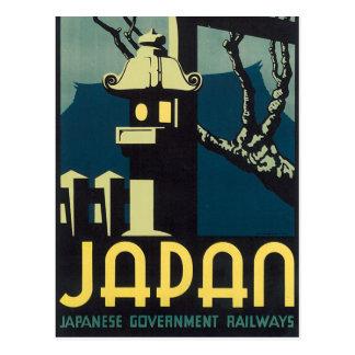 Estradas de ferro japonesas do governo cartão postal