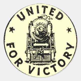 Estradas de ferro unidas para etiquetas da vitória adesivo