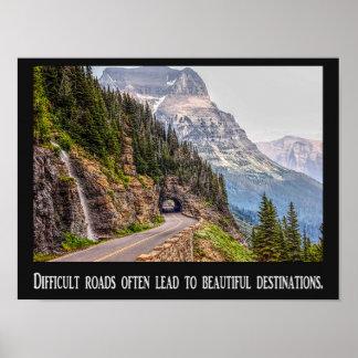 Estradas difíceis - destinos bonitos - poster