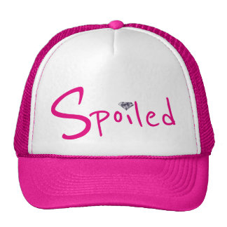 Estragado o chapéu de pouco camionista do rosa do boné