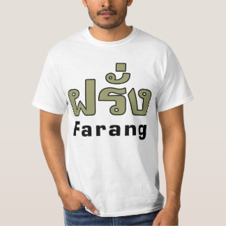 Estrangeiro do ♦ de Farang no ♦ do roteiro da Camiseta