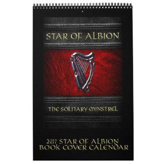 Estrela 2017 do calendário da capa do livro de