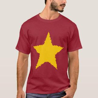Estrela amarela afiada raggedy bonito camiseta