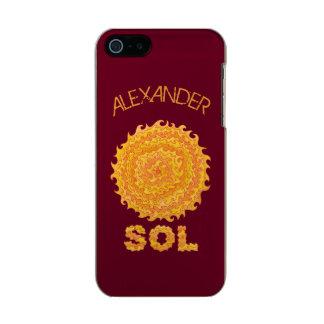 Estrela amarela e alaranjada do geek do espaço do capa incipio feather® shine para iPhone 5
