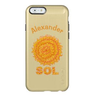 Estrela amarela e alaranjada do geek do espaço do capa incipio feather® shine para iPhone 6