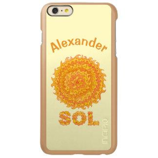 Estrela amarela e alaranjada do geek do espaço do capa incipio feather® shine para iPhone 6 plus