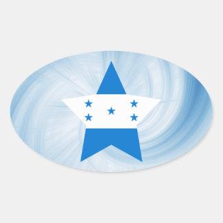 Estrela amigável da bandeira de Honduras do miúdo Adesivo Oval