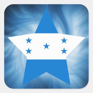 Estrela amigável da bandeira de Honduras do miúdo Adesivo Quadrado