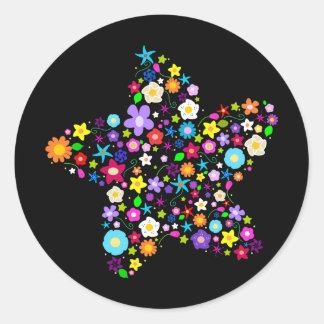 Estrela bonito da flor adesivo