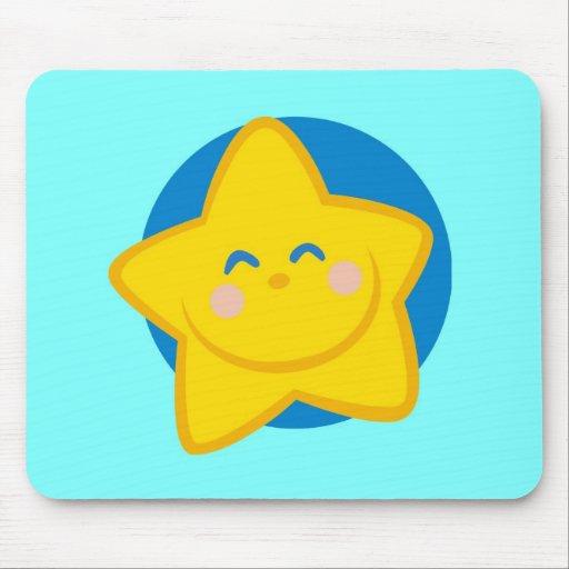 Estrela bonito e sorrindo, para o bebé mouse pads