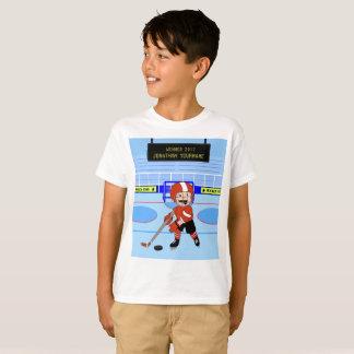 Estrela bonito personalizada do hóquei em gelo camiseta