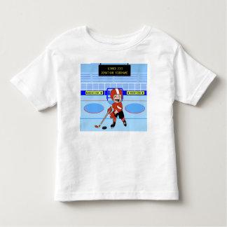 Estrela bonito personalizada do hóquei em gelo camiseta infantil