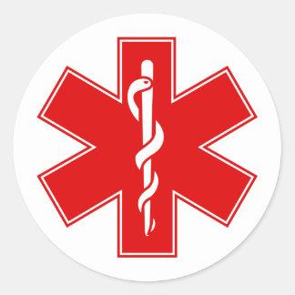 Estrela branca amarelo alaranjado vermelha do EMS Adesivos Em Formato Redondos
