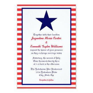 Estrela branca & azul vermelha - convite do
