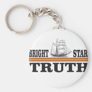 estrela brilhante alaranjada da verdade chaveiro