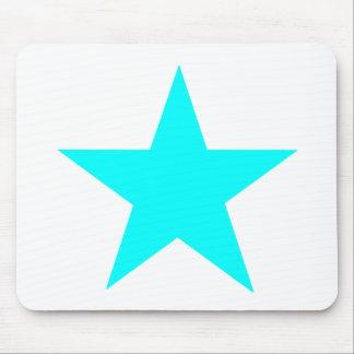 Estrela ciana os presentes de Zazzle do MUSEU Mousepads