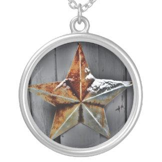 Estrela Colar Com Pendente Redondo