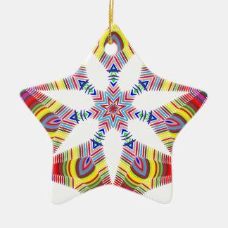 Estrela colorida ornamento de cerâmica