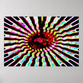 Estrela cura - plexos solares impressão