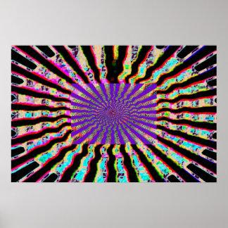 Estrela cura - roxo Nuclues dos plexos solares Pôsteres