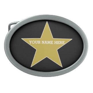 Estrela customizável do ouro