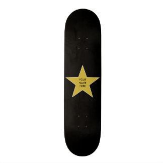 Estrela customizável do ouro skate