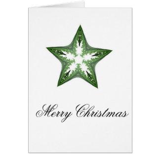 Estrela da arte do Fractal no cartão verde