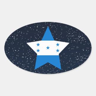 Estrela da bandeira de Honduras no espaço Adesivo Oval