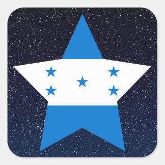 Estrela da bandeira de Honduras no espaço Adesivo Quadrado