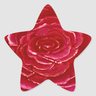 Estrela da etiqueta cor-de-rosa