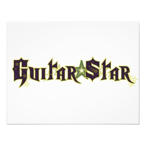 Estrela da guitarra convites