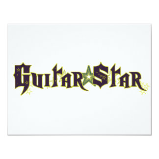 Estrela da guitarra convite 10.79 x 13.97cm