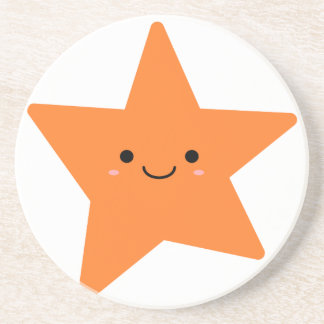 Estrela da laranja de Kawaii Porta-copos De Arenito