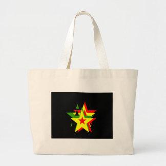 Estrela da reggae bolsas de lona