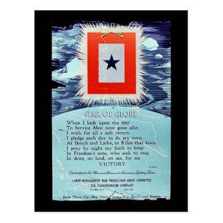 Estrela da vitória da glória cartão postal