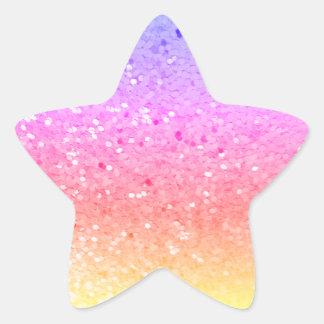 Estrela dada forma: Etiquetas do brilho do