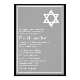 Estrela de brilho do convite de Mitzvah do bar da