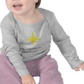 Estrela de brilho camisetas