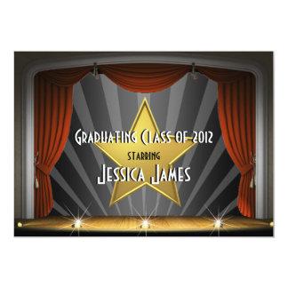 Estrela de cinema - convite da graduação