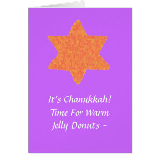 Estrela de David alaranjada, cartão de Chanukkah