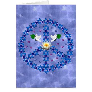 Estrela de David da paz Cartão Comemorativo