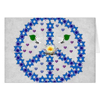 Estrela de David da paz Cartão De Nota
