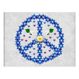 Estrela de David da paz Cartão Postal