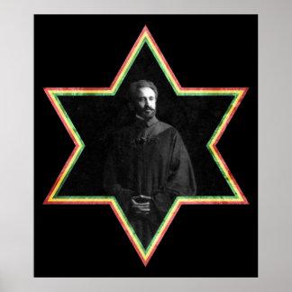 Estrela de David de Haile Selassie Poster