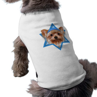 Estrela de David de Hanukkah - yorkshire terrier Roupas Para Pets