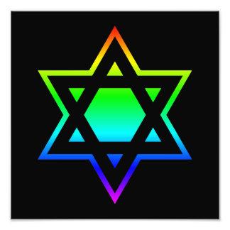 Estrela de David do arco-íris Foto