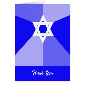 Estrela de David do azul dos cartões de
