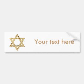 Estrela de David do Matzoh do Passover Adesivo Para Carro