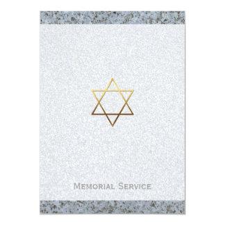 Estrela de David dourada/cerimonia comemorativa #2 Convite 12.7 X 17.78cm