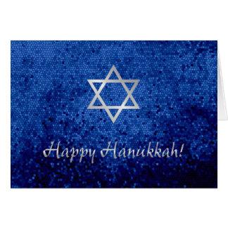 Estrela de David feliz de Hanukkah Cartão Comemorativo